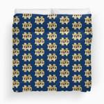 NFL Notre Dame Fighting Irish Gold Watercolor Logo Pattern Duvet Cover Bedding Set