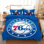 Nba Philadelphia 76ers Basketball Logo Duvet Cover Bedding Set