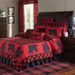 Black Bear Lodge Red Bedding Set (Duvet Cover & Pillow Cases)
