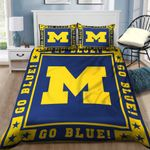 Michigan Wolverines Bedding Set Sleepy (Duvet Cover & Pillow Cases)