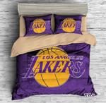 3d Los Angeles Lakers Duvet Cover Bedding Set 2