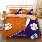 Ncaa Clemson Tigers Paw Logo Bedding Set (Duvet Cover & Pillow Cases)