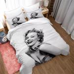 Marilyn Monroe Smiling Portrait Duvet Cover Bedding Set