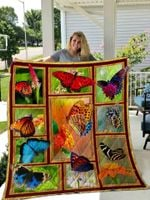 Beautiful Butterfly Quilt Blanket Great Customized Gifts For Birthday Christmas Thanksgiving Perfect Gifts For Butterfly Lover