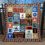 Hockey Is My Favorite Season Quilt Blanket Great Customized Blanket Gifts For Birthday Christmas Thanksgiving