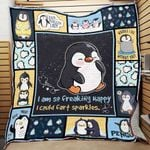 Penguin I'm So Freaking Happy I Could Fart Sparkles Quilt Blanket Great Customized Blanket Gifts For Birthday Christmas Thanksgiving