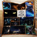 Black Jaguar Wild And Free Quilt Blanket Great Customized Blanket Gifts For Birthday Christmas Thanksgiving
