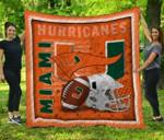 Ncaa Miami Hurricanes Quilt Blanket #136