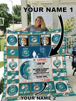 Miami Dolphins – Personalized Name Quilt Blanket