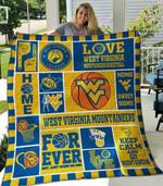 Ncaa West Virginia Mountaineers Quilt Blanket #414