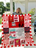 Liverpool (Dad And Mom To Son) Quilt Blanket