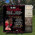 Personalized To My Daughter Quilt Blanket From Mom I Love You More Than You'll Ever Know Great Customized Blanket Gifts For Birthday Christmas Thanksgiving
