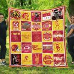 Ncaa Usc Trojans Quilt Blanket #684