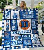Ncaa Duke Blue Devils Quilt Blanket #42