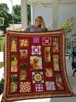 Golden Retriever Pattern Quilt Blanket Great Customized Blanket Gifts For Birthday Christmas Thanksgiving