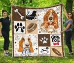 Life Is Basset Hound Quilt Blanket Great Customized Blanket Gifts For Birthday Christmas Thanksgiving