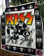 Kiss Quilt Blanket For Fans