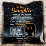 Personalized To My Daughter From Dad Never Forget Your Way Back Home Quilt Blanket Great Customized Gifts For Birthday Christmas Thanksgiving