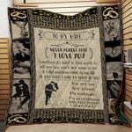 Personalized To My Wife From Husband Sometimes It's Hard To Find Words Quilt Blanket Great Customized Gifts For Birthday Christmas Thanksgiving Wedding Valentine's Day Perfect Gifts For Couple