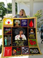 Black Nurse I'm A Black Nurse And Celebrate My Race All Year Long Quilt Blanket Great Customized Gifts For Birthday Christmas Thanksgiving Perfect Gifts For Black Nurse