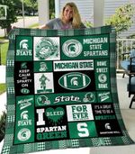 Ncaa Michigan State Spartans Quilt Blanket #465