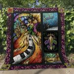 Mardi Gras Musical Quilt Blanket Great Customized Blanket Gifts For Birthday Christmas Thanksgiving