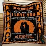 Personalized Warrior To My Husband Quilt Blanket Never Forget That I Love You Great Customized Blanket Gifts For Birthday Christmas Thanksgiving