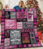 Cheerleader Cheer Like A Beauty Train Like A Beast Quilt Blanket Great Customized Blanket Gifts For Birthday Christmas Thanksgiving