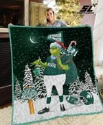 Michigan State Spartans Grinch Quilt Blanket
