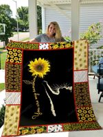 Cat Sunflower You Are My Sunshine Quilt Blanket Great Customized Gifts For Birthday Christmas Thanksgiving Perfect Gifts For Cat Lover