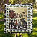 Animals Farm Ew People Quilt Blanket Great Customized Blanket Gifts For Birthday Christmas Thanksgiving