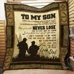 Personalized Hunting To My Son From Dad You Put Your Mind To That You Will Never Lose Quilt Blanket Great Customized Gifts For Birthday Christmas Thanksgiving Perfect Gifts For Hunting Lover