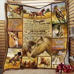 Personalized Horse To My Daughter From Mom Never Forget That I Love You Quilt Blanket Great Customized Gifts For Birthday Christmas Thanksgiving