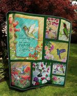 Hummingbird Let Everything That Has Breath Praise The Lord Quilt Blanket Great Customized Blanket Gifts For Birthday Christmas Thanksgiving