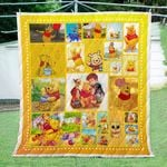 Pooh And Friend Quilt Blanket