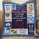 Personalized November Nurse It's A Privilege To Do What God Has Entrusted Me To Do Quilt Blanket Great Customized Blanket Gifts For Birthday Christmas Thanksgiving