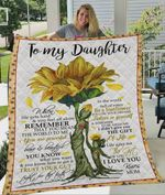 Personalized Sunflower Family To My Daughter Quilt Blanket From Mom Life Gave Me The Gift Great Customized Blanket Gifts For Birthday Christmas Thanksgiving