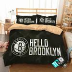 Nba Brooklyn Nets Logo Bedding Set (Duvet Cover & Pillow Cases)