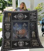 Viking Blood Runs Through My Veins Quilt Blanket Great Customized Blanket Gifts For Birthday Christmas Thanksgiving