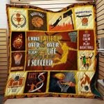Basketball I Have Over And Over Again In My Life And That's Why I Succeed Quilt Blanket Great Customized Blanket Gifts For Birthday Christmas Thanksgiving