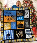 Keep Calm And Play Volleyball Quilt Blanket Great Customized Blanket Gifts For Birthday Christmas Thanksgiving