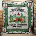 Welcome To Camp Quitcherbitchin If You're Not A Happy Camper Take A Hike Quilt Blanket Great Customized Blanket Gifts For Birthday Christmas Thanksgiving