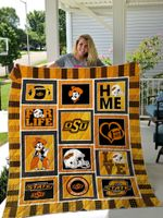 Oklahoma State Cowboys Quilt Blanket