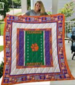 Ncaa Clemson Tigers Quilt Blanket #37