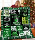 Life Is Better When You're Golfing Quilt Blanket Great Customized Blanket Gifts For Birthday Christmas Thanksgiving