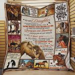 Personalized Horse To My Daughter Quilt Blanket From Mom You Will Always Be My Baby Girl Great Customized Blanket Gifts For Birthday Christmas Thanksgiving