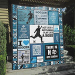 Soccer Act Like A Gentleman Play Like A Boss Quilt Blanket Great Customized Blanket Gifts For Birthday Christmas Thanksgiving