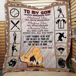 Personalized Baseball To My Son From Dad Behind You All Your Memories Quilt Blanket Great Customized Gifts For Birthday Christmas Thanksgiving Perfect Gifts For Baseball Lover