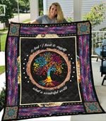 Tree Of Life And I Think To Myself What A Wonderful World Quilt Blanket Great Customized Blanket Gifts For Birthday Christmas Thanksgiving
