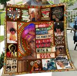 Never Underestimate The Power Of Black Woman With A Book Quilt Blanket Great Customized Blanket Gifts For Birthday Christmas Thanksgiving